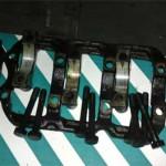 Подшипники коленвала двигателя 4A31Pajero Jr. в снятом виде.