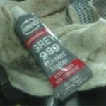 Серый герметик двигателя ABRO.