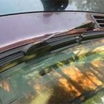 Новые щетки Wiper установлены на Pajero Jr. и хорошо прилегают к новому лобовому стеклу.