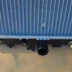 Новый радиатор имеет по низу штуцеры под охлаждение автомата