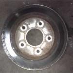 Изношенный тормозной диск Pajero Jr.