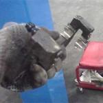 Направляющие колодок очищены от окалины и установлены на место
