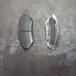 Все что осталось от тормозных колодок - тонкие пластинки по 2-3мм
