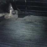 Крепежный кронштейн старого радиатора Pajero Jr. с резиновым демпфером