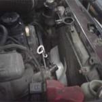 Для снятия старого радиатора необходимо оказалось снять крыльчатку вентилятора с коленвала
