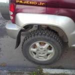 Поднятие задней подвески Pajero Jr. после установки новых пружин от зубилы