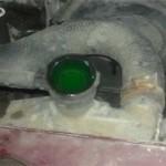 Радиатор залит до верхней крышки перед тем как закрыли пробку