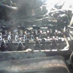 Вид двигателя Pajero Jr. после снятия клапанной крышки