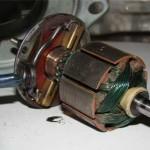 Ротор моторчика печки в сборе с щеточным узлом