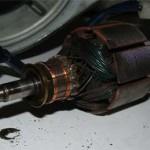 Снятый ротор мотора печки Pajero Jr.