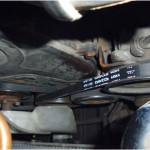 Новые приводные ремни установлены на место и отрегулировано натяжение